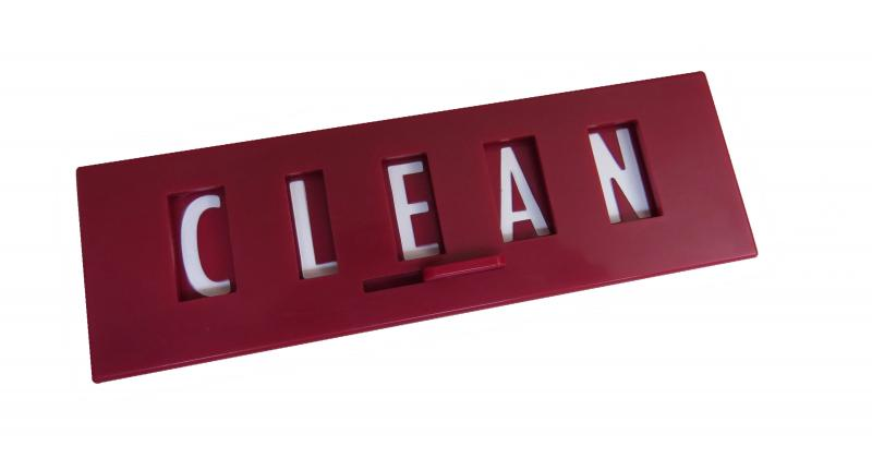 red clean dirty sign amazon